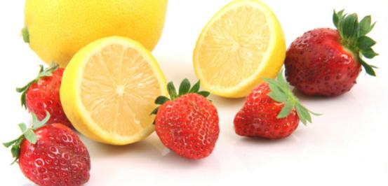 resep jus strawberry lemon